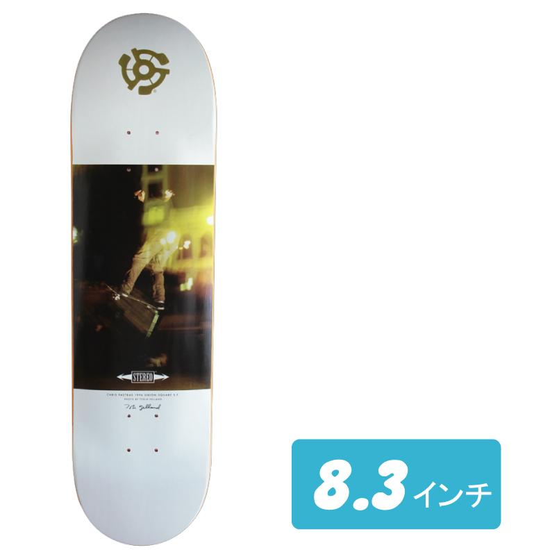 STEREO skateboards スケートボード CHRIS PASTRAS - TOBIN YELLAND PHOTO SERIES Deck 8.3インチ デッキ スケボー