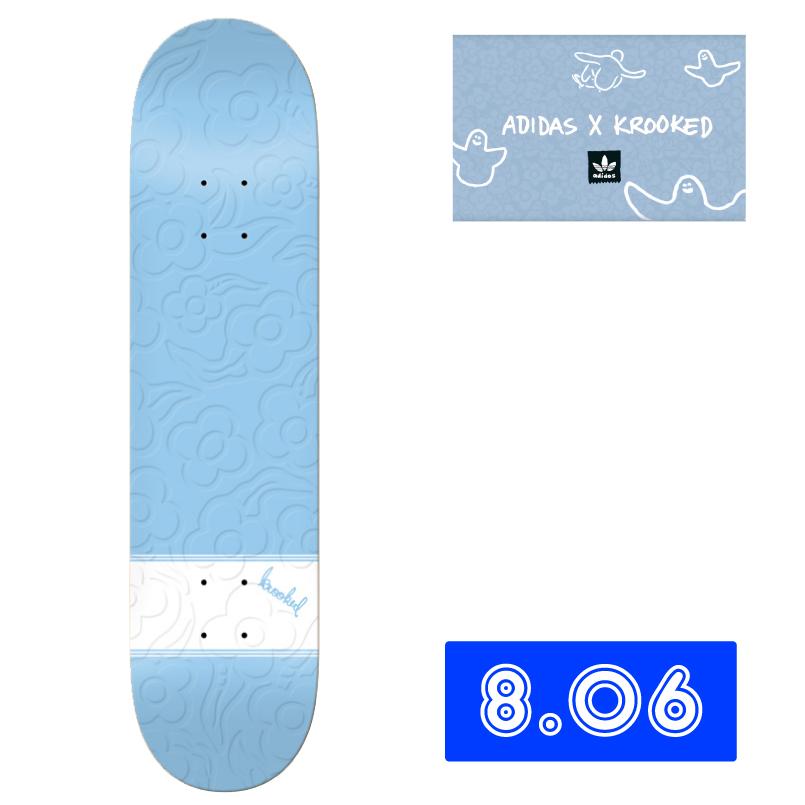 adidas skateboardingとコラボデッキ!KROOKED クルキッド アディダススケートボーディング GONZ THREE STRYPES Deck デッキ 8.06インチ スケートボード 通販 skateboard スケボー