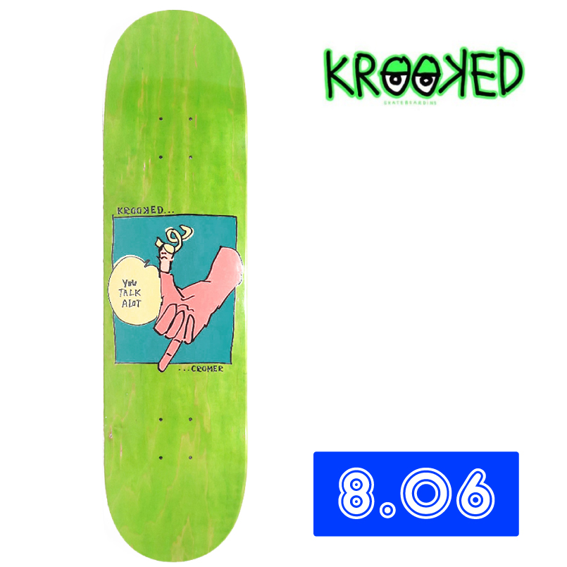 KROOKED クルキッド CROMER TAWKER Deck デッキ 8.06インチ スケートボード 通販 skateboard スケボー