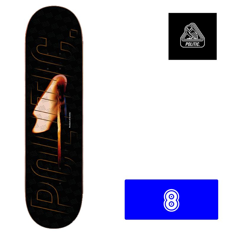 POLITIC BRAND ポリティック ブランド スケートボード スケボー team match skateboard デッキ 8インチ 通販
