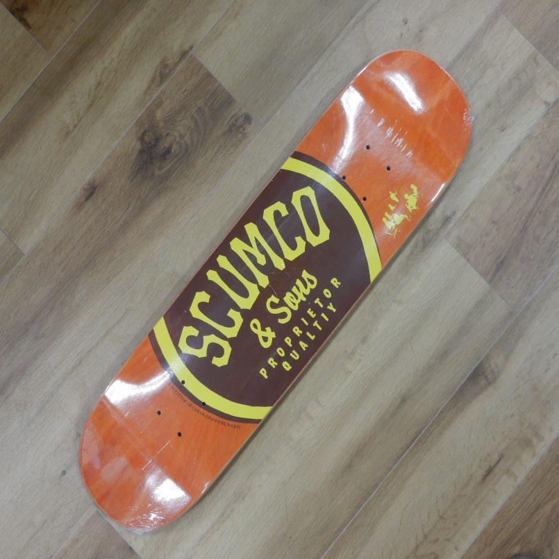 古き良きアメリカの産物のようなブランドです スカムコアンドサンズ デッキ スケートボード SCUMCOSONS 供え Deck 8.0 SKATEBOARD DECK スケボー 休日