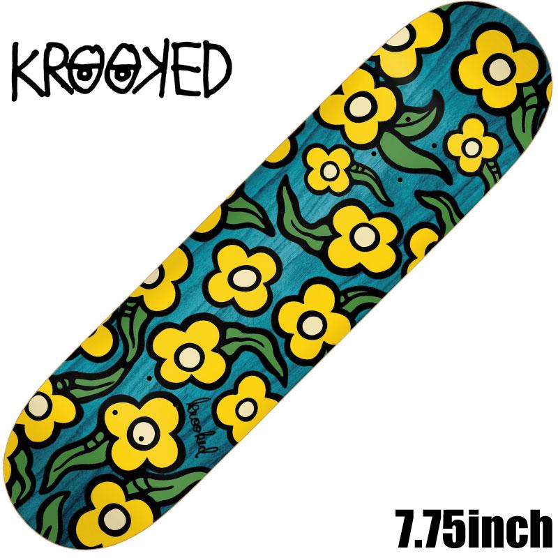 人気のMARK GONZALES が手掛けるスケートブランド クルキッド 直営ストア デッキ スケートボード KROOKED DECK 7.75 31.25 SKATEBOARD 人気 おすすめ スケボー x style wild flower