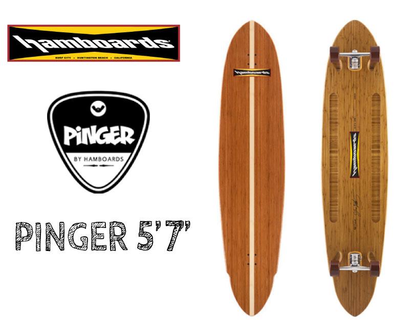 """HAMBOARDS <PINGER 5'7"""" >お取り寄せ商品 コンプリートスケートボード サーフィン、パドルボードトレーニングに"""