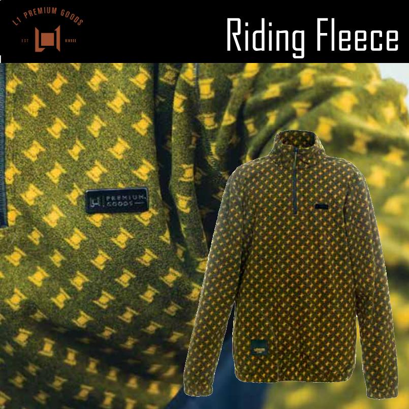 L1 RIDEING FLEECE JACKET 19-20 エルワン ライディングフリースジャケット スノーボード レディース メンズ ウェア 2019-2020