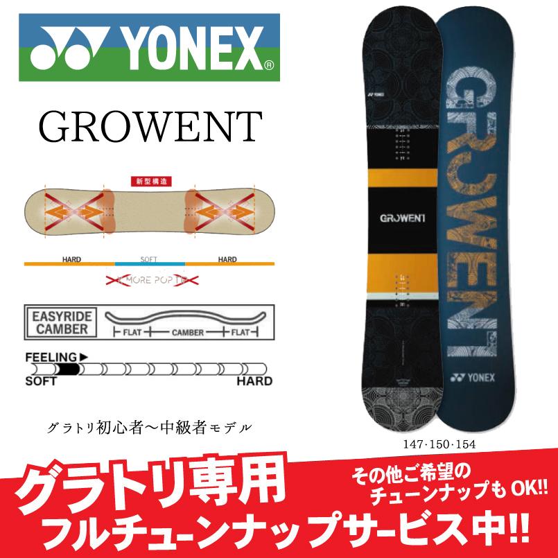 YONEX ヨネックス GROWENT グローウェント グラトリ 専用 モデル SNOWBOARD スノーボード 板 2019-2020 グラトリ※9月末~10月末入荷予定