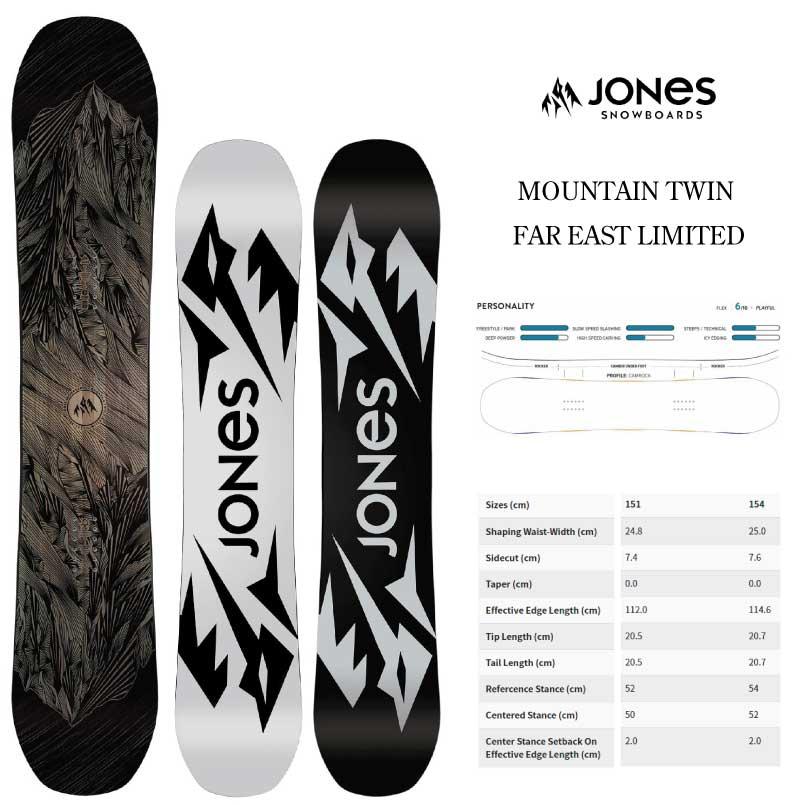 フリースタイルとフリーライドの融合! ジョーンズ マウンテンツイン ファーイーストリミテッド JONES MOUNTAIN TWIN FAR EAST LIMITED SNOWBOARD スノーボード 板 2019-2020
