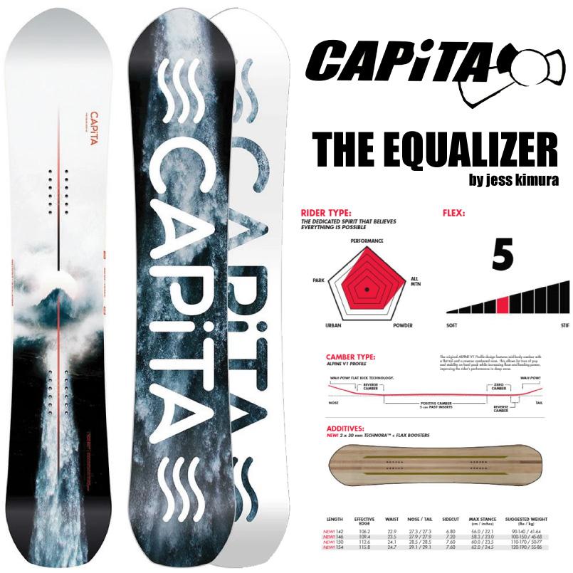 キャピタ イコライザー CAPITATHE EQUALIZER SNOWBOARD スノーボード 板 2019-2020 レディース ディレクショナル フリーライドボード