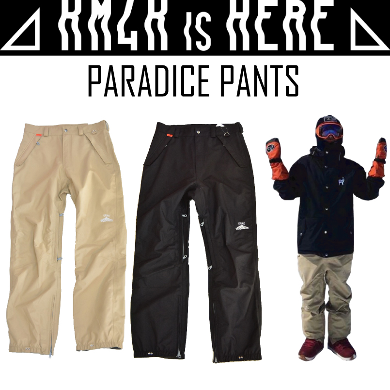 KM4K カモシカ PARADICE PANTS パラダイス パンツ スノーボードウェア17-18