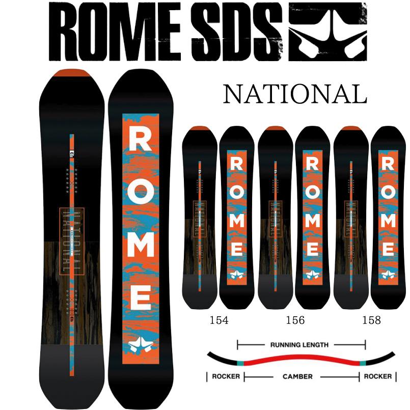 ロームナショナル SNOWBOARD ROME NATIONAL スノーボード 板 2018-2019 デレクショナルツイン