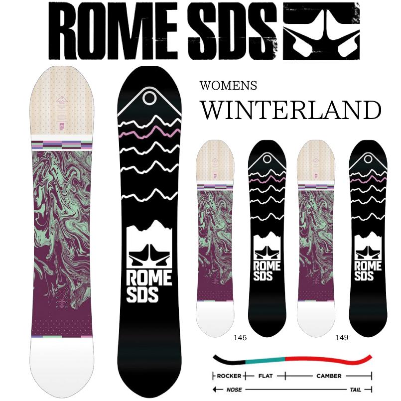 ローム レディース ウィンターランド SNOWBOARD ROME WINTERLAND スノーボード 板 2018-2019 デレクショナル