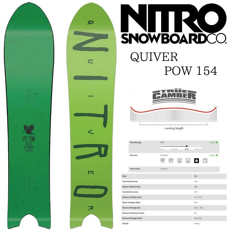 ナイトロ クイバーパウ 18-19 NITRO QUIVER POW SNOWBOARD スノーボード 板 2018-2019