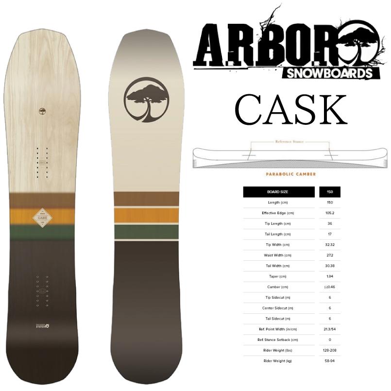 アーバー カスク ARBOR CASK SNOWBOARD スノーボード 板 2018-2019