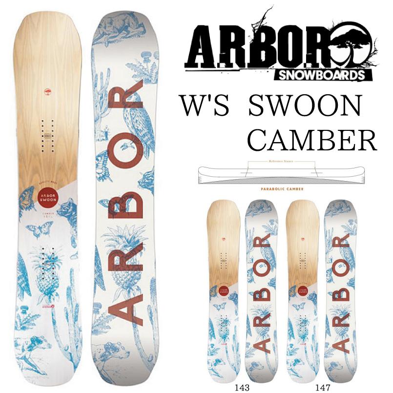 アーバー レディース スウォーン キャンバー ARBOR SWOON CAMBER SNOWBOARD スノーボード 板 2018-2019