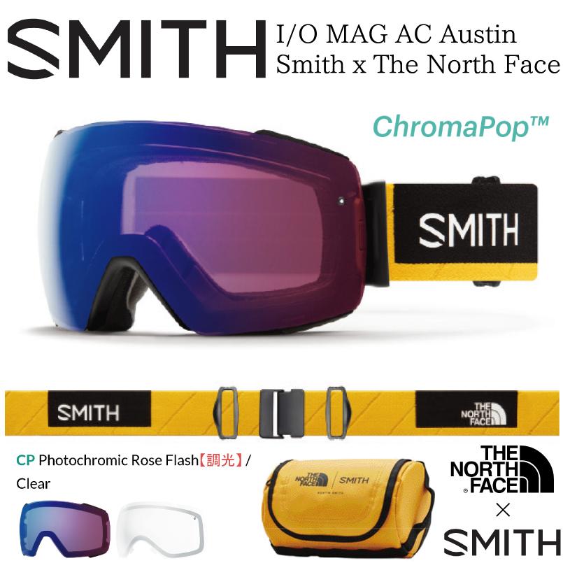 【最大1200円クーポン】3/8 9:59まで!スミス アイオーマグ SMITH I/O MAG  スノーボード ゴーグル レディース メンズ モデル スペアレンズ付き 18-19 日本正規品 2018-2019 Austin Smith × The North Face