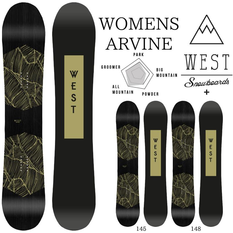 ウエストスノーボード アルバイン WEST ARVINE WOMENS SNOWBOARD スノーボード 板 2018-2019