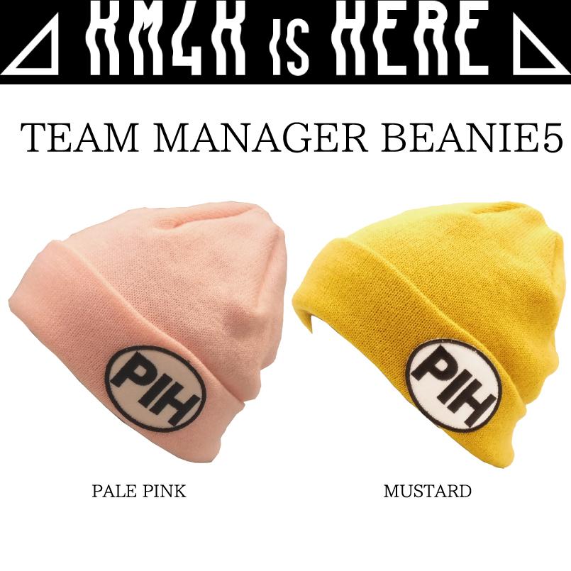 ワッペンビーニー カモシカ ビーニー 100%品質保証 KM4K BEANIE TEAM GORO'S ニット帽 CAP 再再販 帽子 MANAGER BEANIE5