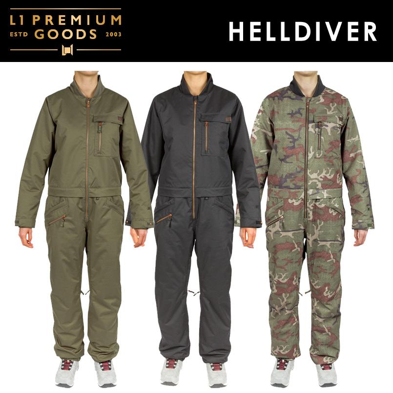 L1 PREMIUM GOODS エルワン <HELLDIVER ヘルダイバー>SNOWBOARD WEAR スノーボード ウェア つなぎ 2018-2019
