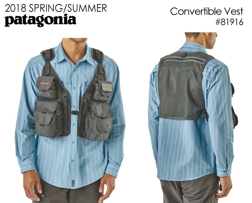 数量限定【最大1200円クーポン】配布中!!パタゴニア PATAGONIA フィッシングベスト 81916<Convertible Vest  コンバーティブル ベスト > 18SS※取り寄せ品