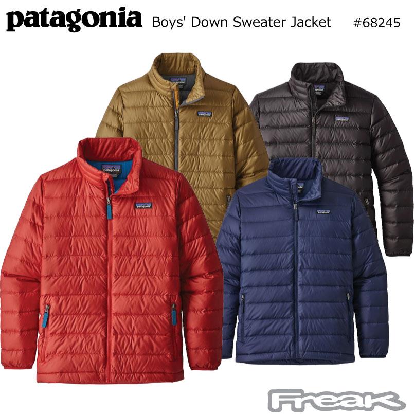 数量限定【最大1200円クーポン】配布中!!パタゴニア PATAGONIA キッズ レディース ジャケット 68245<Boys' Down Sweater ボーイズ ダウン セーター > 2018FW※取り寄せ品