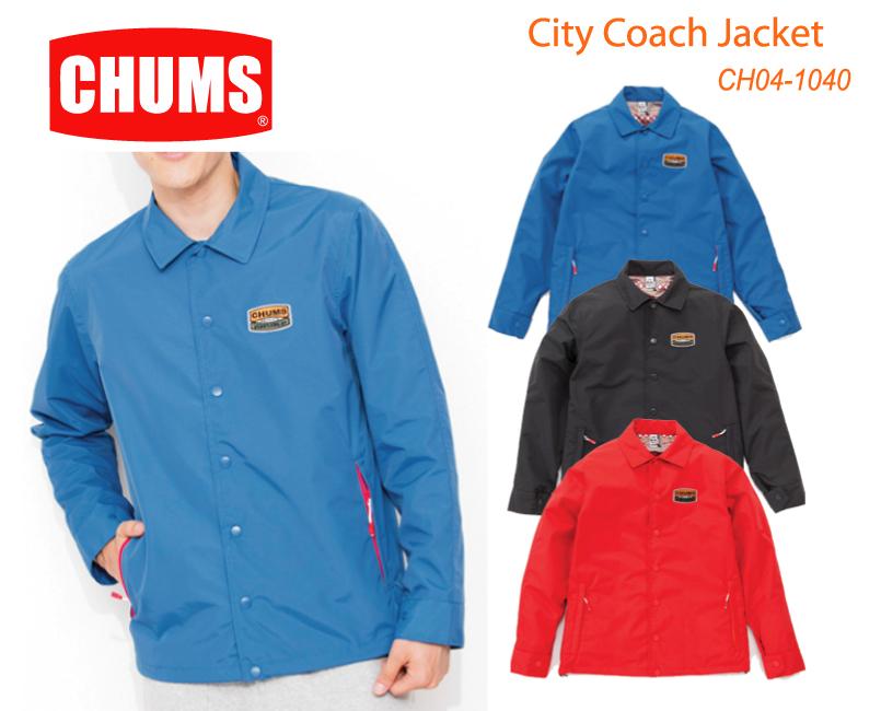 数量限定【最大1200円クーポン】配布中!!CHUMS チャムス CH04-1040<City Coach Jacket  City Coach Jacket>※取り寄せ品