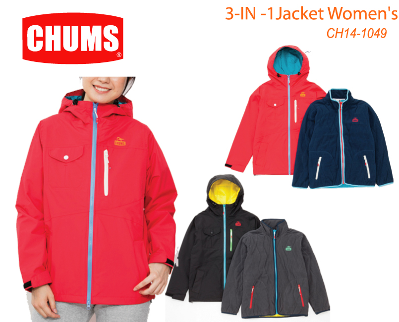 CHUMS チャムス CH14-1049<3-IN -1Jacket Women's  スリーインワンジャケット  >※取り寄せ品