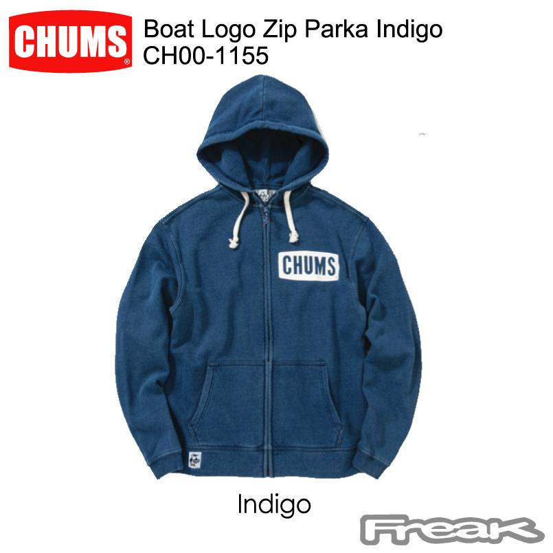 CHUMS Parka チャムス メンズ スウェットパーカCH00-1155<Boat Indigo Logo Zip Parka Logo Indigo ボートロゴジップパーカーインディゴ(トップス/パーカー)>※取り寄せ品, モノウグン:568512e6 --- officewill.xsrv.jp