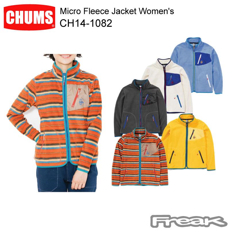 軽量かつ動きやすさを追求したマイクロフリースシリーズのジャケットです CHUMS チャムス CH14-1082 Micro Women's 好評 Fleece マイクロフリースジャケット Jacket 激安☆超特価