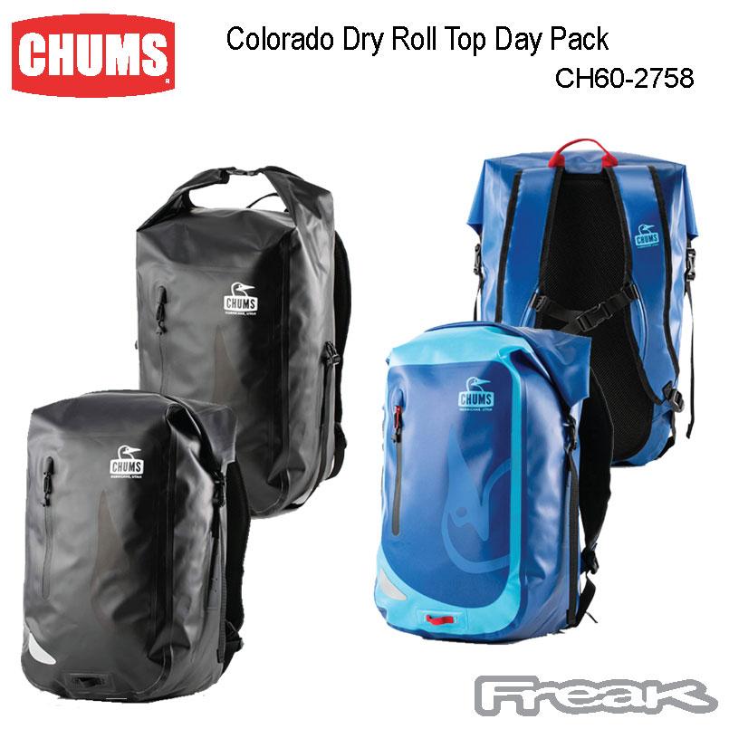 CHUMS チャムス デイバッグ リュック CH60-2758<Colorado Dry Roll Top Day Pack コロラドドライロールトップデイパック>※取り寄せ品