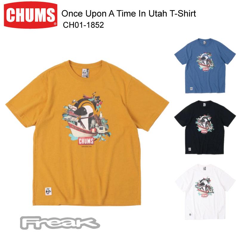 """夏でもさらっと爽やかな着心地の""""コットンリネンTシャツ"""" CHUMS チャムス メンズ トップス Tシャツ トレンド CH01-1852 Once 日時指定 Upon T-ShirtワンスアポンアタイムインユタTシャツ Utah In A Time ※取り寄せ品"""