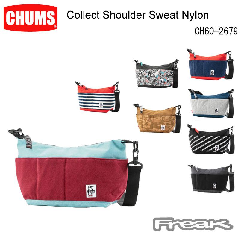 長年愛され続けている CHUMS定番のショルダーバッグ チャムス ショルダーバッグ CH60-2679 Collect ※取り寄せ品 Nylon コレクトショルダースウェットナイロン 新発売 Sweat Shoulder 日本最大級の品揃え