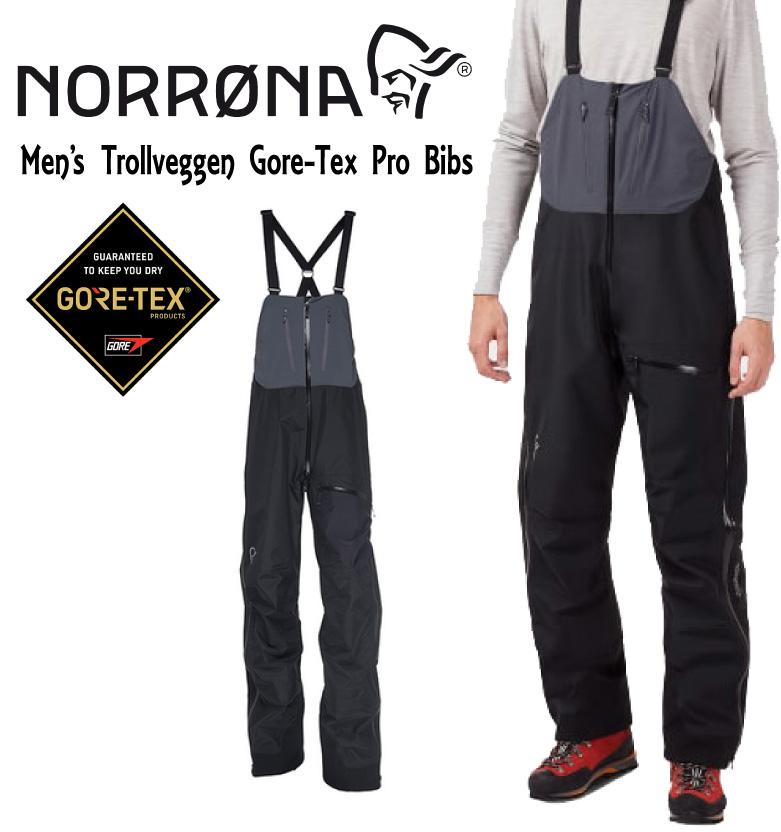 NORRONA ノローナ <trollveggen Gore-Tex Pro Bibs >Caviarメンズ トロールヴェゲン ゴアテックス プロ ビブ