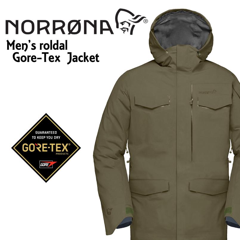 NORRONA ノローナ <roldal Gore-Tex Jacket>カラーOlive Nightメンズ ロールダル ゴアテックス ジャケット