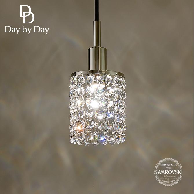 スワロフスキークリスタルを使用したミニペンダント オクタゴンクリスタル スワロフスキービーズがたっぷりの108粒/引掛けシーリング対応 60W1灯 インテリア照明