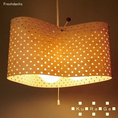 フレイムス四角いドットのセードがかわいいペンダントライトくらげ/KURAGE/苦楽芸/DP-060/インテリア照明のフレッヒダックス