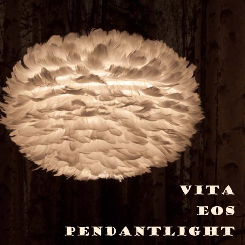 ライトブラウン登場 北欧 照明 ペンダントライト デンマーク VITA ヴィータ EOS イオス 北欧照明 ふわふわ もふもふ ランプ 鳥の羽根 【セットでうふふ対応】インテリア照明 送料無料 電球別売 LED対応 引掛けシーリング