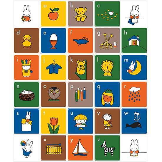 Miffy ABC (English) / IXXI ウォールピクチャー size 100 x 120 (cm)【おしゃれ インテリア アートパネル パネル ピクチャー おしゃれ ウォール ステッカー インテリア 雑貨 かわいい 空間演出に!】