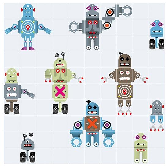 Robot / IXXI ウォールピクチャー 壁を傷つけない 簡単取付 賃貸物件の模様替えにも ヨーロッパで大人気な 名画が楽しめます。
