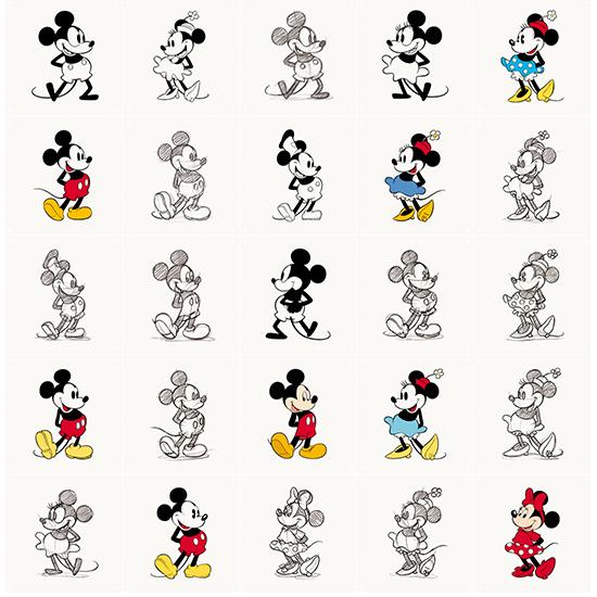 Mickey & Minnie animation / Disney 壁を傷つけない 簡単取付 賃貸物件の模様替えにも ヨーロッパで大人気な 名画が楽しめます。