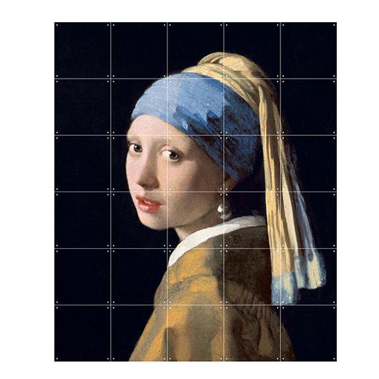 Girl with Pearl Earring / IXXI ウォールピクチャーsize samll 100x120cm 壁を傷つけない 簡単取付 賃貸物件の模様替えにも ヨーロッパで大人気な 名画が楽しめます。