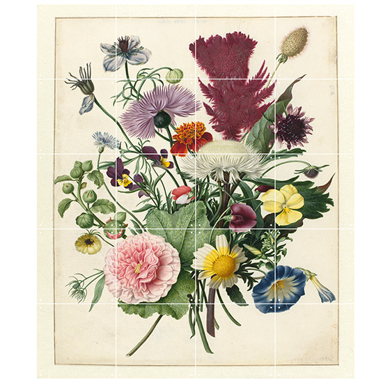 Bouquet of Flowers / IXXI ウォールピクチャーsize small 80x100cm 壁を傷つけない 簡単取付 賃貸物件の模様替えにも ヨーロッパで大人気な 名画が楽しめます。