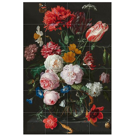 Still Life with Flowers / IXXI ウォールピクチャーsize small 80x120cm 壁を傷つけない 簡単取付 賃貸物件の模様替えにも ヨーロッパで大人気な 名画が楽しめます。