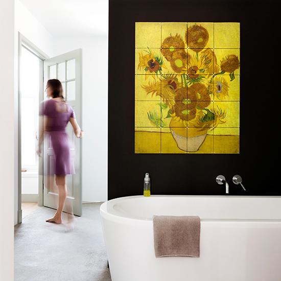 Sunflowers / IXXI ウォールピクチャー 壁を傷つけない 簡単取付 賃貸物件の模様替えにも ヨーロッパで大人気な 名画が楽しめます。