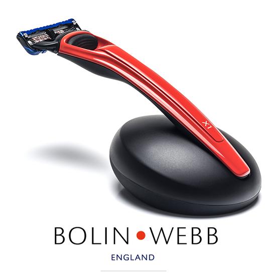英国製 名車と同じ塗装を施したプレミアム シェーバー 髭剃り Bolin・Webb X1 シリーズ( Gillette Fusion 5枚刃 )人気 Copper Red ボーリングウェブ ボリンウェブ 替刃は ジレット ヒュージョン に対応 ギフト プレゼント 誕生日 記念日 父の日 などに
