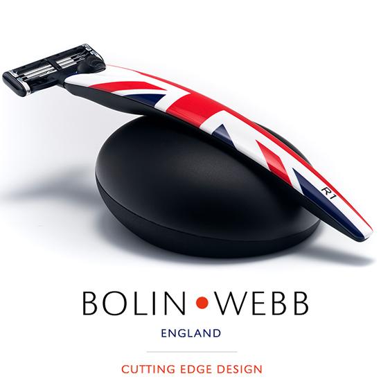 英国製 名車と同じ塗装を施したプレミアム シェーバー 髭剃り ( Gillette マッハシンスリー 3枚刃 ) Bolin・Webb R1 Jack 替刃は ジレット マッハシンスリー に対応 ギフト プレゼント 誕生日 記念日 父の日 などに