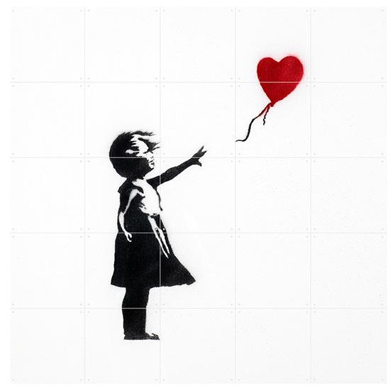 Girl with Balloon / IXXI ウォールピクチャーsize small 100x100cm 壁を傷つけない 簡単取付 賃貸物件の模様替えにも ヨーロッパで大人気な 名画が楽しめます。