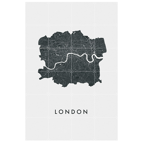 London city map / IXXI ウォールピクチャー ロンドンマップ size small 80x120cm 壁を傷つけない 簡単取付 賃貸物件の模様替えにも ヨーロッパで大人気な 名画が楽しめます。