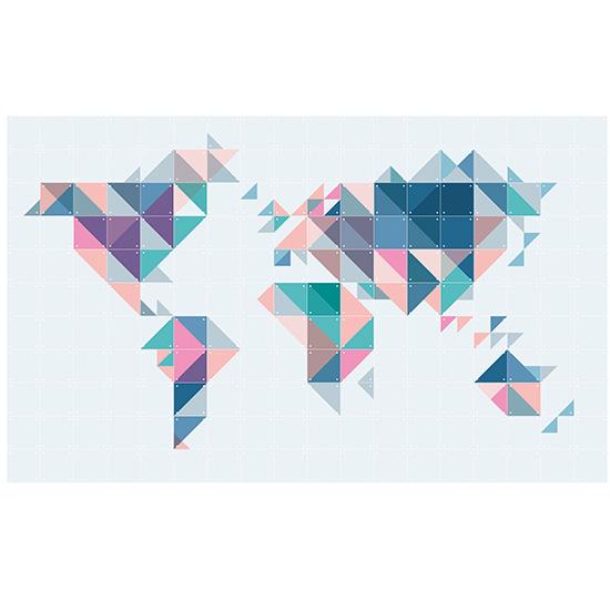 The World Tangram/ IXXI ウォールピクチャー size180cmx 110cm 壁を傷つけない 簡単取付 賃貸物件の模様替えにも ヨーロッパで大人気な 名画が楽しめます。