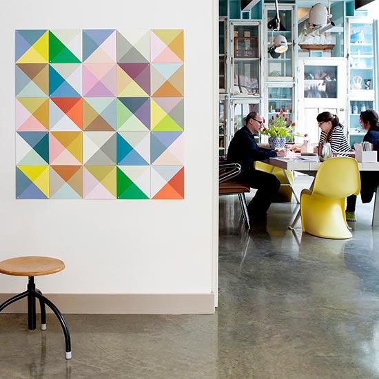 Loco Color samll リバーシブル / IXXI ウォールピクチャーsize 20cm x20cm (25cards) 壁を傷つけない 簡単取付 賃貸物件の模様替えにも ヨーロッパで大人気な 名画が楽しめます。