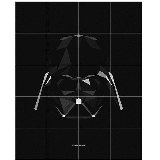 Star Wars SW Icon : Darth Veder / IXXI ウォールピクチャー size small 80 x 100 (cm) 壁を傷つけない 簡単取付 賃貸物件の模様替えにも ヨーロッパで大人気な 名画が楽しめます。