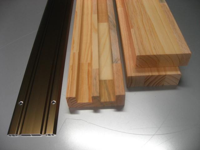 室内対応 建具引戸枠(frame-h-010)高さ:1000mm~1800mm以下×幅:1870mm以下対応です。床敷きVレール・鴨居 (上下左右セット)見込調整可能 集成材枠 引き戸 間仕切り 仕切り オーダー枠 溝ピッチ変更 引き戸ガイドレール スライド リフォーム